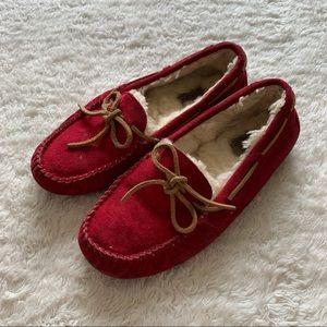 UGG Dakota moccasin wheeling lined suede slippers